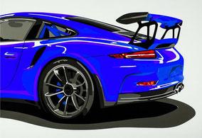 Wallpaper GT3 RS (blau)