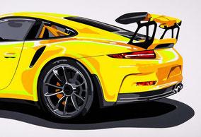 Wallpaper GT3 RS (gelb)