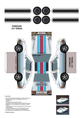 Porsche 911 Targa Martini zum Basteln!