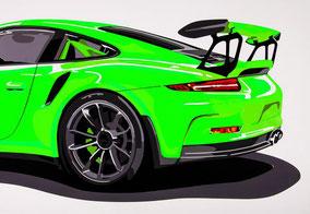 Wallpaper GT3 RS (grün)