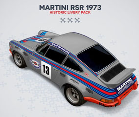 Porsche Racing Sticker Martini RSR 1973