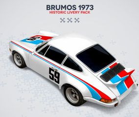 Porsche Racing Sticker Brumos 1973