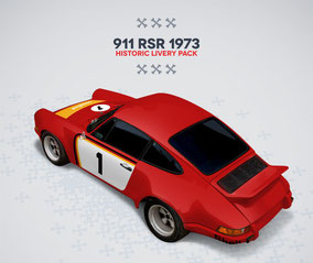 Porsche Racing Sticker RSR 1973