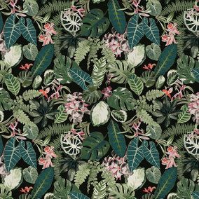 green leaves, jungle pattern, exotic design