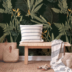 botanical wallpaper with fern, MADEMOISELLE CAMILLE