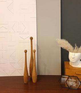 structured wallpaper - 3D structure - trompe l'oeuil Wallpaper - Tapeten Design -Papier Peint - MADEMOISELLE CAMILLE