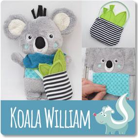 Sticktier, ITH Stickdatei Koala für die Stickmaschine