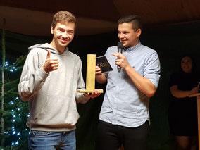 """Laurin Eckert gewinnt den """"Goldenen Pfosten"""""""