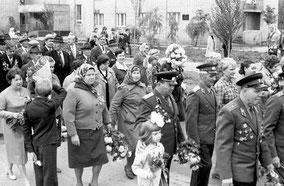 В центре (в плаще) моя мама - Малафеева К.В. -участник ВОВ, фронтовик.