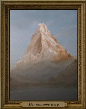 der einsame berg landschaftsgemälde