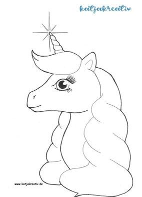 Ausmalbild Malvorlage kostenlos Cottbus Einhor Unicorn