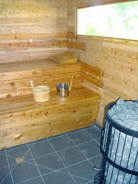 Le sauna... pour vos moments de détente...