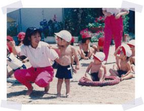 スタッフが幼稚園に勤務していた当時の写真