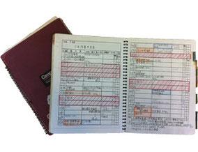 幼稚園勤務当時、実際に使用していたノート
