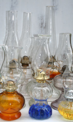 Mismatched oil lamps