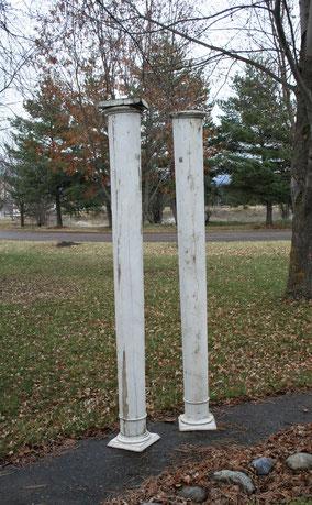 Chippy White Pillars