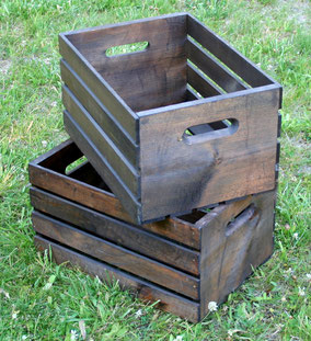 Pair of wooden crates