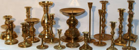 Mismatched Brass candlesticks