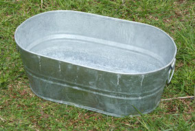 Medium oval galvanized tub