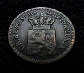 1 Kreuzer von 1867: Eine der letzten Kleinmünzen aus Hessen-Darmstadt