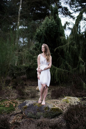 apollo-artemis, fashion, design, sustainable, handmade, project, photo, shooting, chiton, dress, dancer, nature