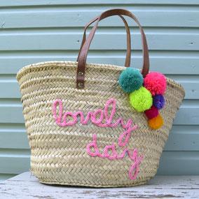 Korbtasche Lovely Day personalisiert