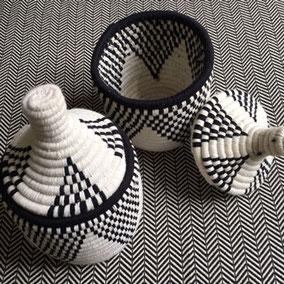 Berberkörbe schwarz weiß
