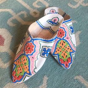 Orientalische Schuhe im Hippie Style - hier Ballerinas
