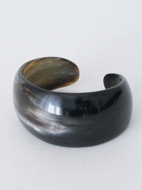 VINTAGE Bangle Horn black