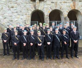 Hercynen gemeinsam mit unserem Kartellcorps aus Aachen auf der jährlichen Weinheimtagung