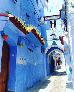 青い街「シャウエン」旧市街