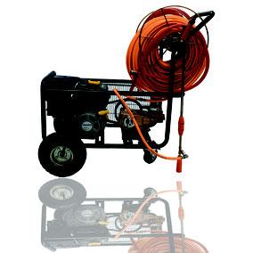 Parihuela 6.5 HP con 100 mts de manguera y ruedas