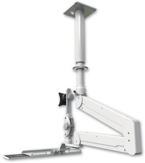 ELP6220シリーズ  天井固定 天吊りロングアーム ガススプリング内蔵 昇降式 ディスプレイキーボード用