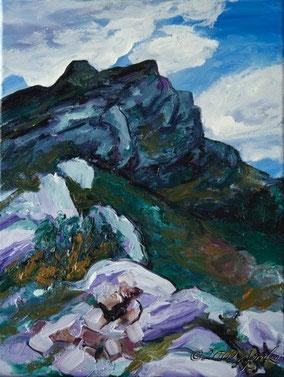 le Chemin d'Immoucha sur la Ste Victoire, 40/30cm oil on canvas