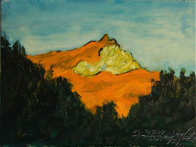 0019-la Ste Victoire, late summer evening, 40/30cm oil on canvas