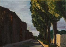 Peyrolles-en-Provence, 22/16cm, oil on canvas--SOLD