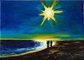 la mer à Sète, 33/24cm oil on canvas