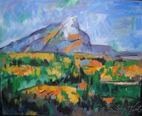 après Cézanne, La Ste Victoire, 60/50cm oil on canvas
