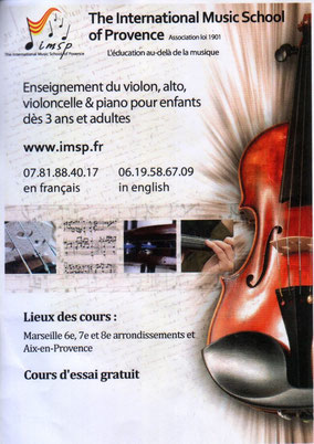 String ensemble provided by the International Music School of Provence