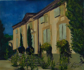 Château de la Coste, 46/38cm oil on canvas