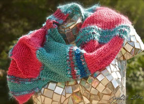 Mixed fibers mohair wool fantasy handknit