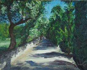 0044-le chemin à château le Seuil, 41/33cm oil on canvas
