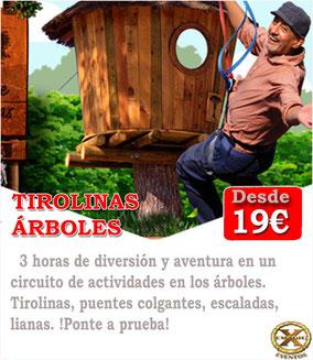 Circuito de aventura y tirolinas en Cádiz