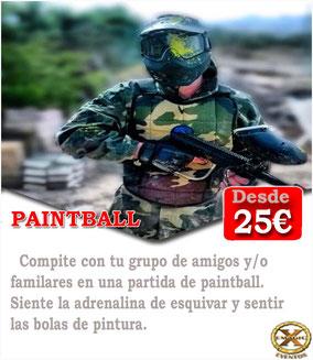 batalla de paintball en Cadiz