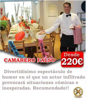 camarero para bromas en Cádiz