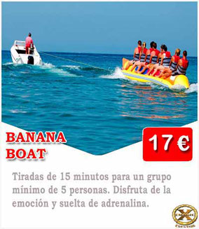 banana local en la playa