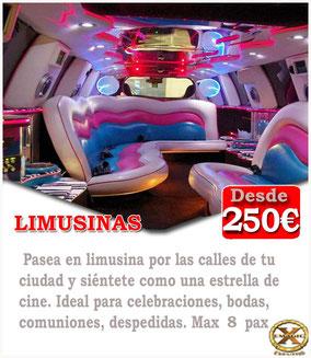 pack reunión de tapper sex y limusina en Cádiz