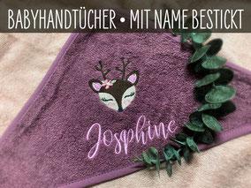 Kapuzenhandtuch Babyhandtuch Handtuch personalisiert Badetuch Badehandtuch Baby Geschenk Geburt Taufe bestickt Name personalisierbar