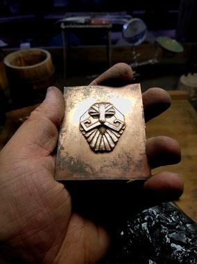 Der Berggeist Zwergenmaske Beschlag Bronze Durin Warhammer