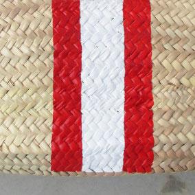 Ibizakorb mit Namen Rot / Weiß